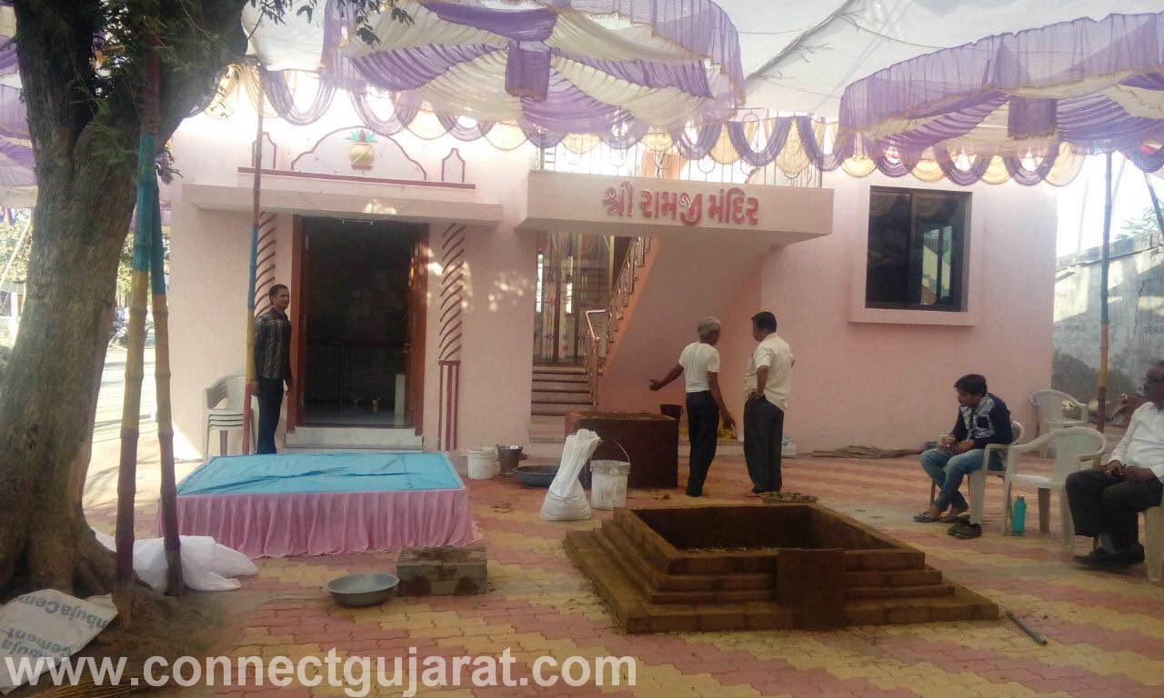 અંકલેશ્વરનાભડકોદ્રા ગામ ના શ્રી રામજી મંદિર ના ધર્મભીના પ્રાણ પ્રતિષ્ઠા મહોત્સવ ની તડામાર તૈયારીઓ શરૂ.
