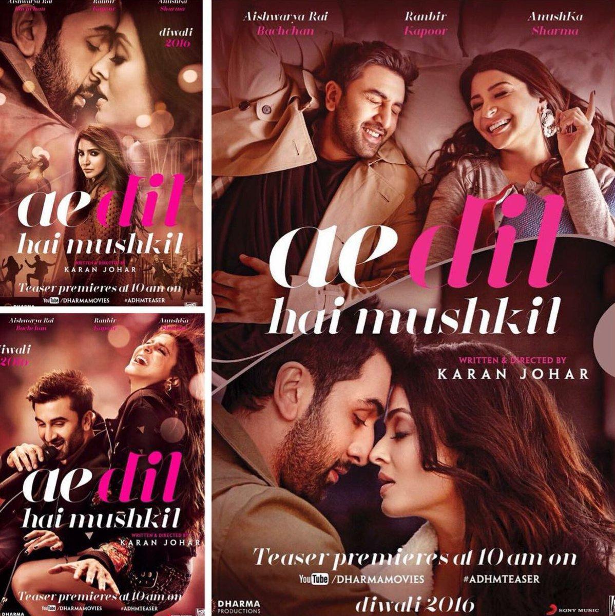 4 વર્ષ બાદ આવી રહી છે કરણ જોહરની ફિલ્મ- 'એ દિલ હૈ મુશ્કિલ'
