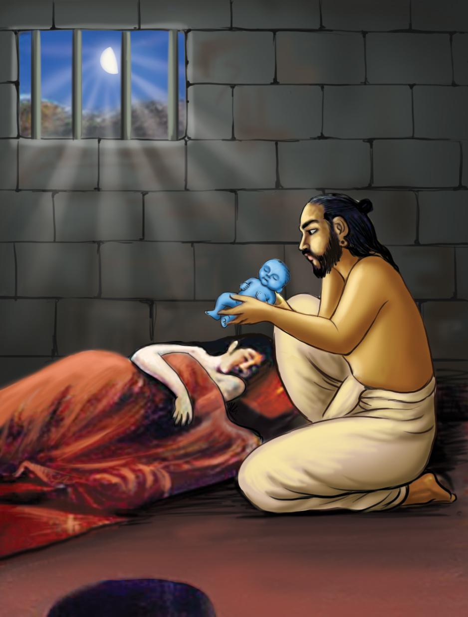 Krishnas-birth-in-prison