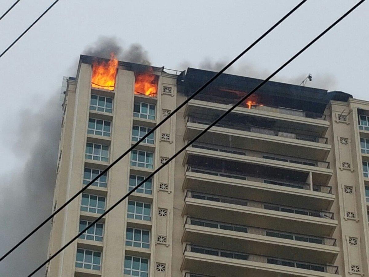 મુંબઇ: કાંદીવલીમાં હિરાનંદાની ટાવર્સમાં લાગી આગ