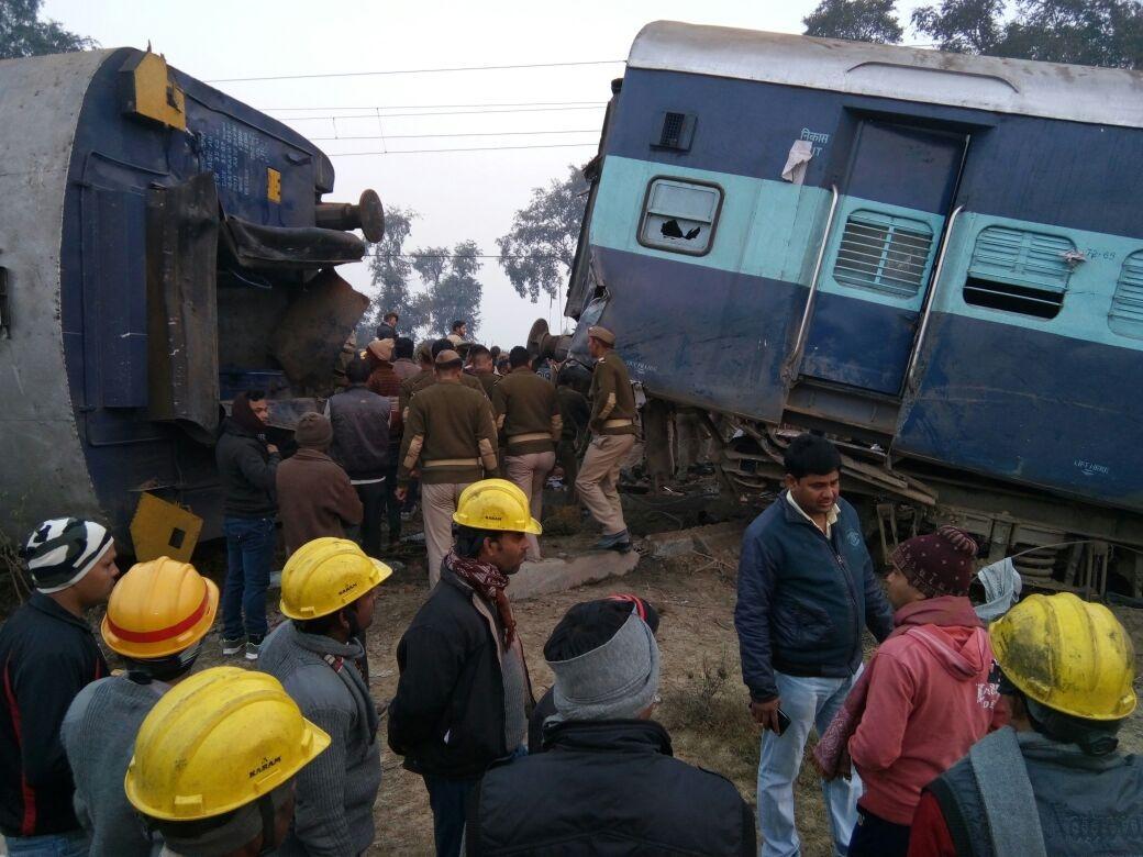 કાનપુર નજીક ટ્રેન પાટા પરથી ઉતરી પડતા 40 થી વધુ લોકોઘાયલ