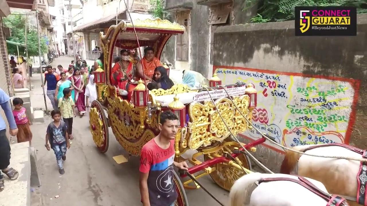 અંકલેશ્વર શાંતિનાથ જૈન સંઘ દ્વારા પર્યુષણ પર્વની પુર્ણાહુતી પ્રસંગે શોભાયાત્રા યોજાઈ