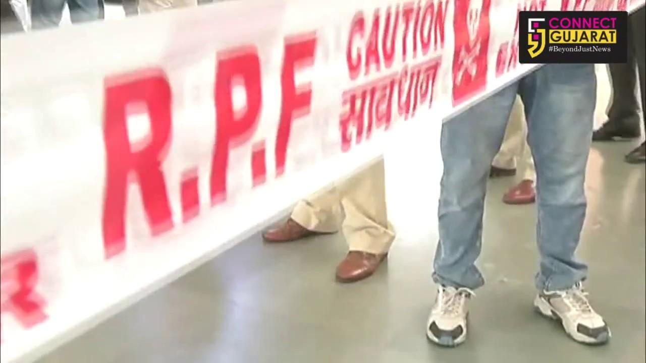 રાજકોટ રેલવે સ્ટેશન પર RPF દ્વારા યોજાઈ મોકડ્રિલ
