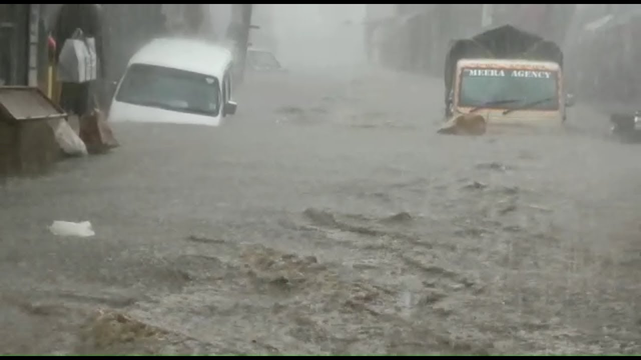 વરસાદનાં તોફાની પાણીમાં રિક્ષા સહિતનાં વાહનો તણાયા