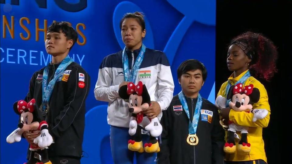 ભારતની મીરાબાઈ ચાનુનો વેઈટ લિફ્ટિંગની વર્લ્ડ ચેમ્પિયનશીપમાં ગોલ્ડ મેડલ મેળવ્યો