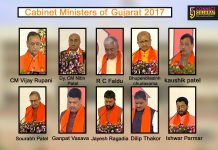 Cabinet Minister of Gujarat 2017