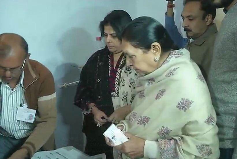 Anandiben Patel vote