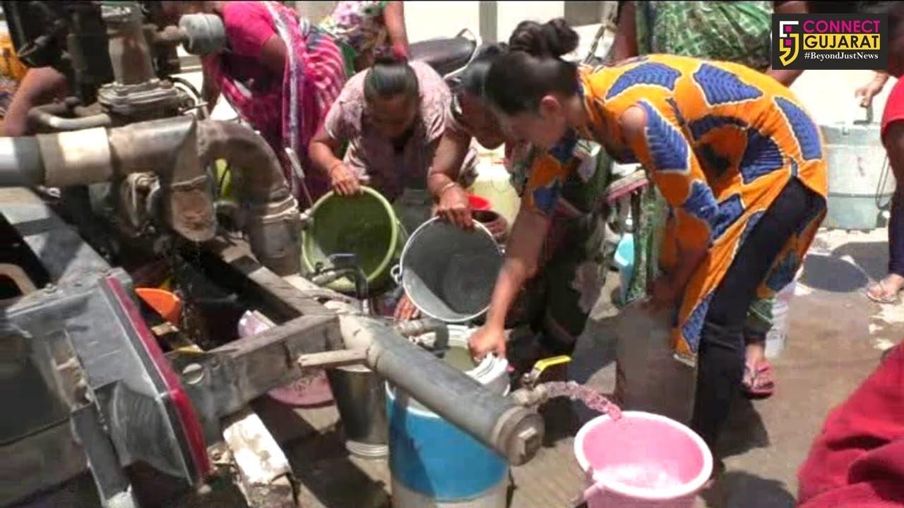 જામનગર :જ્યોતિ પાર્કમાં છેલ્લા એક વર્ષથી મહાનગરપાલિકા દ્વારા ૬૦૦ જેટલા લોકોના પાણી માટે વલખા