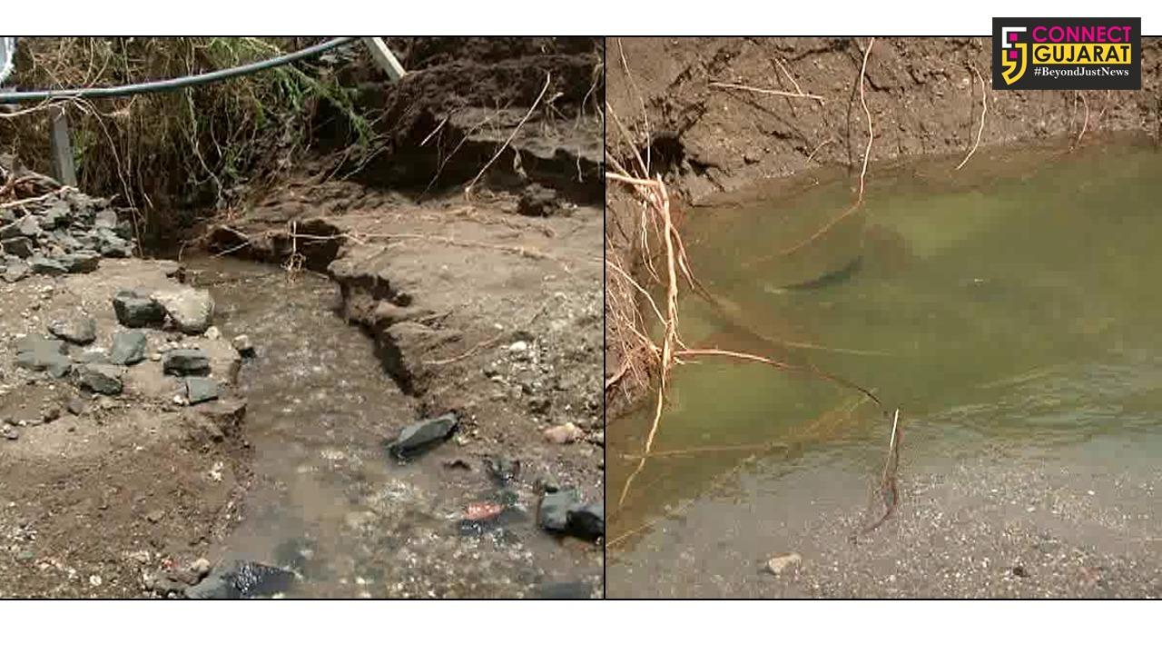 રાજકોટ : ગૌરીદડ ગામ પાસે નર્મદા પાઈપલાઈનમા ભંગાણ, 15MLD પાણી વેડફાયું