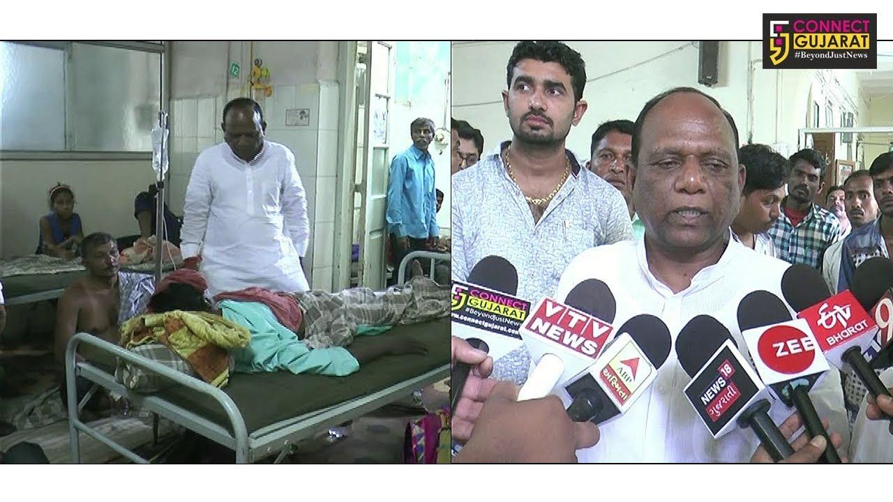 રાજપીપલા સીવીલ હોસ્પીટલની ભરૂચ સાંસદ મનસુખ વસાવાએ લીધી મુલાકાત