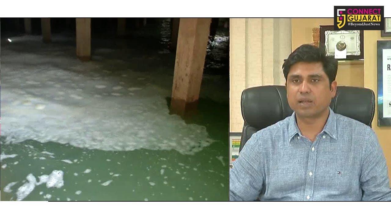 રાજકોટ: પુનિત નગરના પંપીંગ સ્ટેશનમાં પાણીમા જોવા મળ્યા મોટી માત્રામા ફિણ, કોંગ્રેસે કહ્યું પાણી દુષિત તો મેયરે કહ્યું પાણી પીવા લાયક