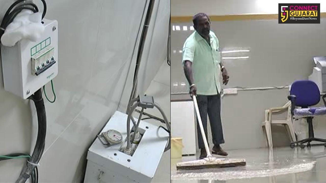 ભરૂચ સિવિલ હોસ્પીટલમાં ડીજીટલ એક્ષરે રૂમ ગંદા પાણીથી ઉભરાયો