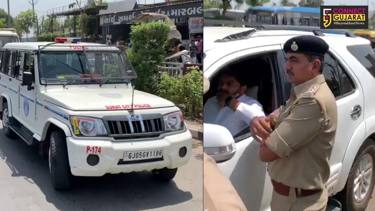 સુરત: સરથાણા ખાતે હાર્દિક પટેલની પોલીસે કરી અટકાયત
