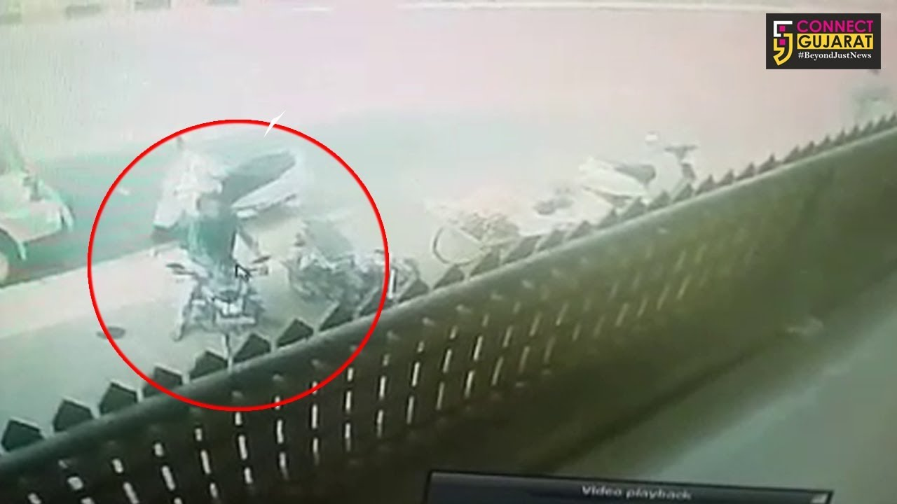 મોડાસામાં ધોળે દહાડે બાઇકની ઉઠાંતરી, ચોરીના દ્રશ્યો CCTVમાં કેદ