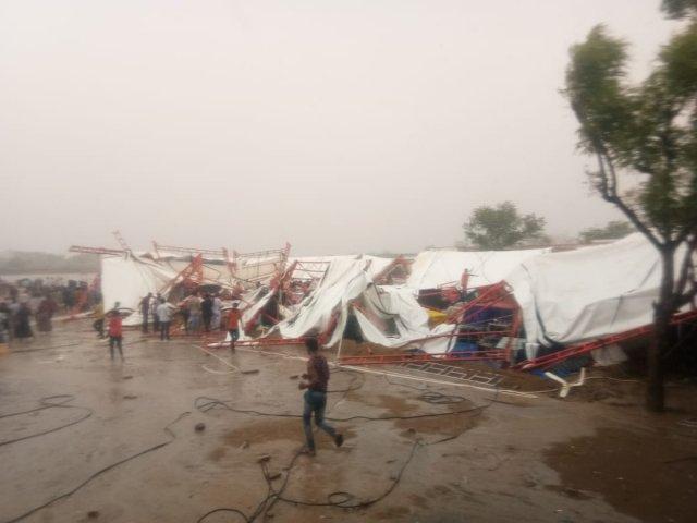 રાજસ્થાન : બાડમેરમાં રામકથામાં વાવાઝોડાથી તૂટ્યો ટેન્ટ, 14ના મોત,