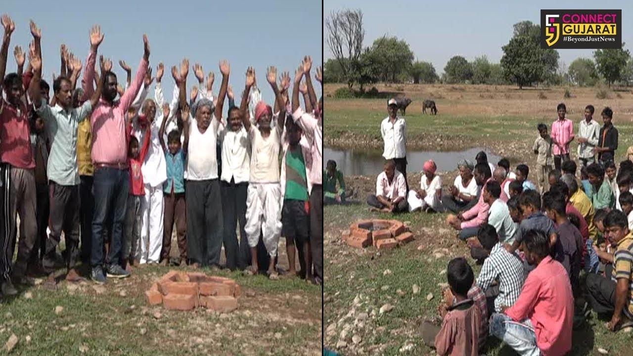 શામળાજી : વાંદીયોલમાંથી પસાર થતી મેશ્વો નદી પર પુલ બનાવવા ૮ ગામના લોકોની રામધૂન
