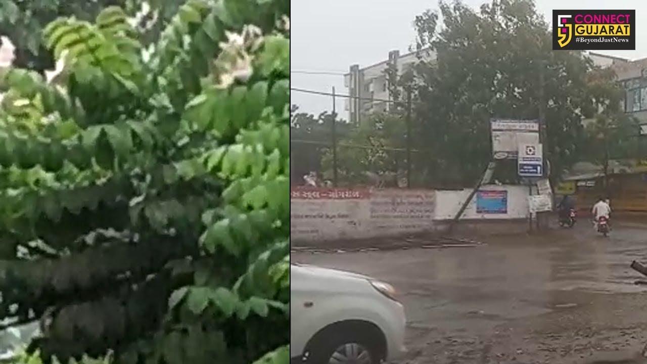 કચ્છમાં વરસાદી માહોલ, પવન સાથે થઈ રહ્યો છે વરસાદ