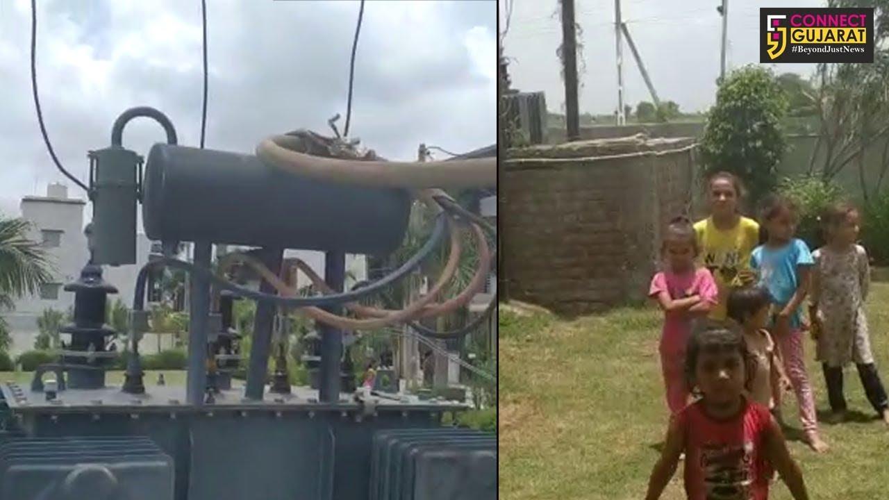 ભરૂચના આસિયાના બંગલોઝ માં ખુલ્લાં ટ્રાન્સફાર્મર અને વાયરો પાસે રમવાબાળકો મજબૂર,તંત્ર ઉદાસીન