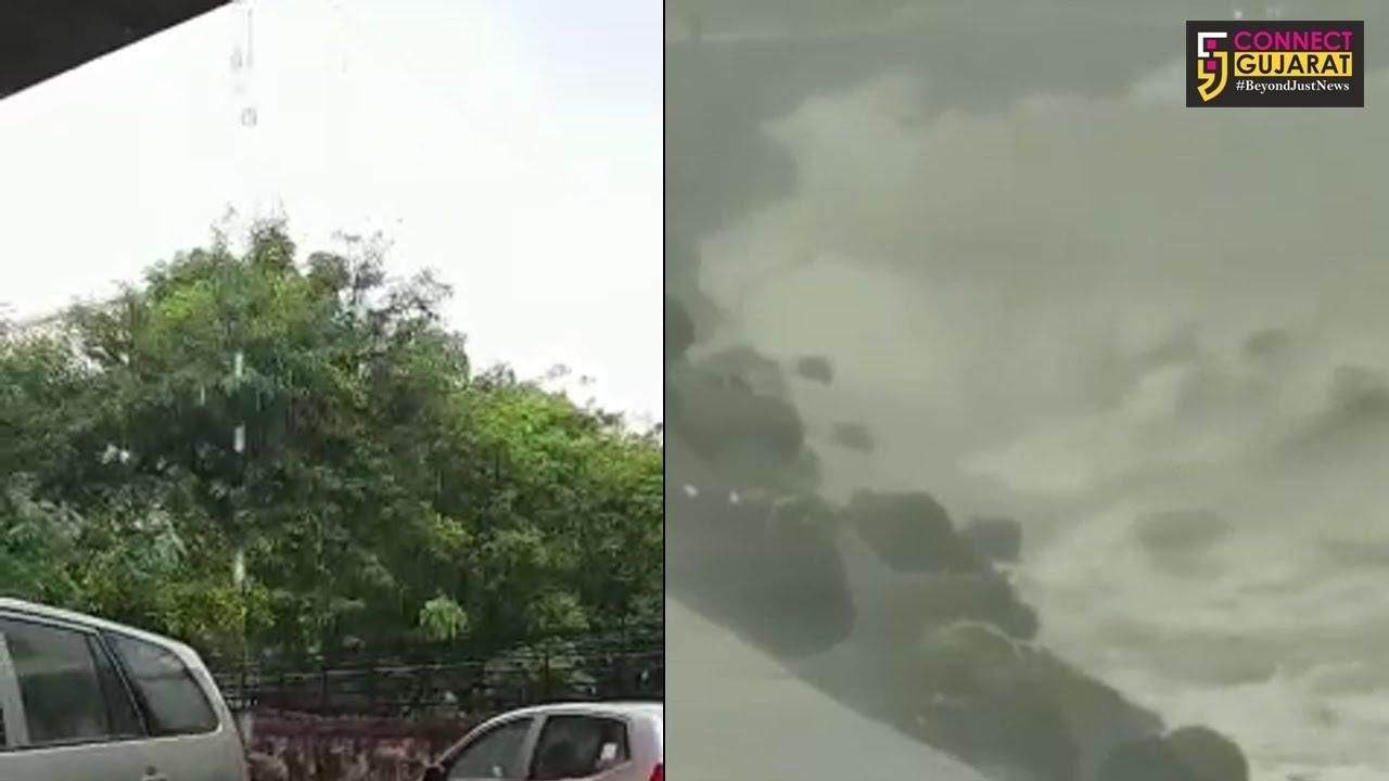 મુંબઈ : મરીન ડ્રાઇવ પર ભરતીના આહલાદ્ક દ્રશ્ય