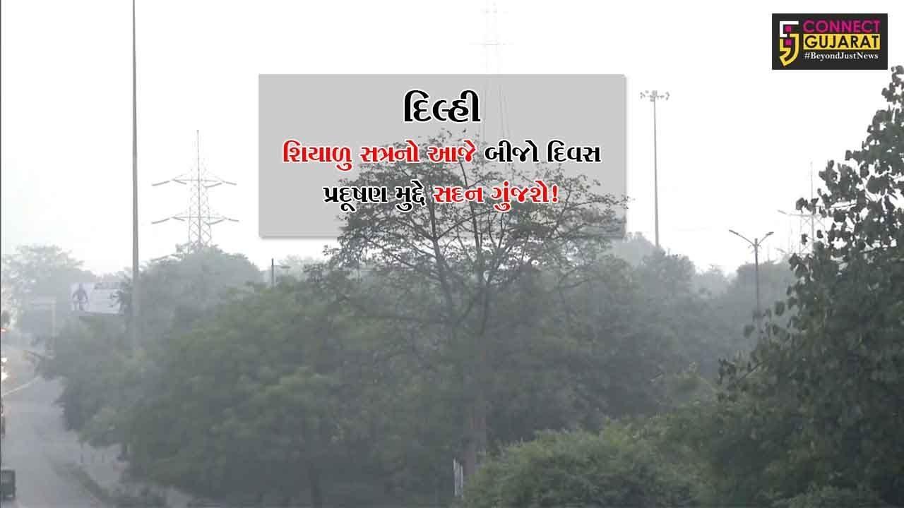 દિલ્હી : શિયાળુ સત્રનો આજે બીજો દિવસ, પ્રદૂષણ મુદ્દે સદન ગુંજશે!