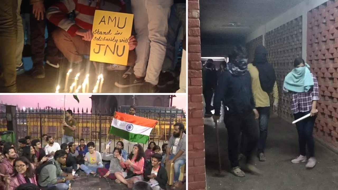 JNU વિવાદ: બુકાનીધારી તત્વોએ જેએનયુ કેમ્પસમાં ઘૂસી મચાવ્યો આતંક, 23 વિદ્યાર્થીઓ ઘાયલ