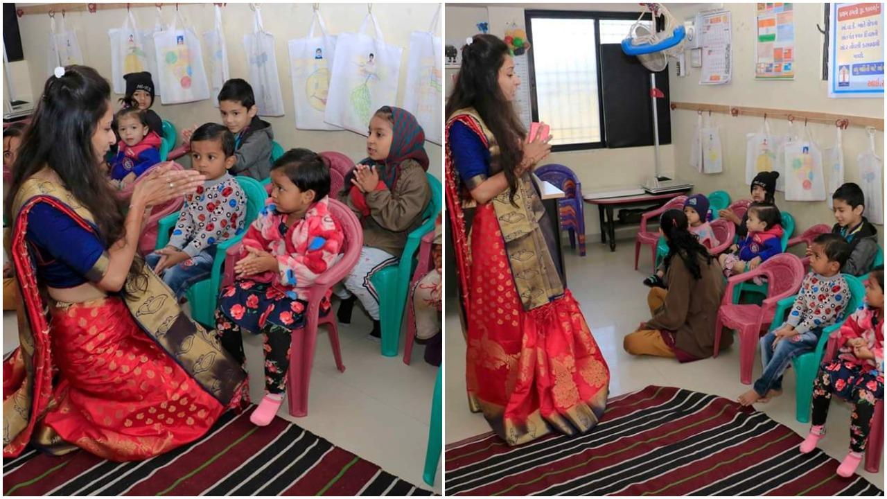 વડોદરા : મળો પાલક માતા ધારા પટેલને, 28 કુપોષિત બાળકોની સંભાળે છે જવાબદારી