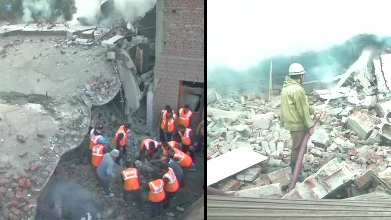 જમ્મુ : ત્રણ માળની ઈમારતમાં આગ લાગતા ધરાશયી, બચાવ કામગીરી શરૂ