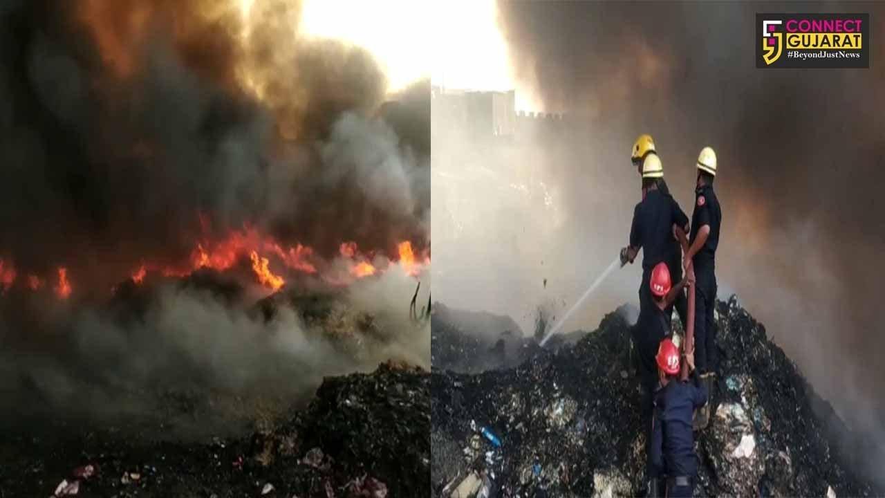સુરત : સચીન જીઆઇડીસીમાં કાપડના ગોડાઉનમાં ભીષણ આગ, ફાયરની ટીમ ઘટનાસ્થળે