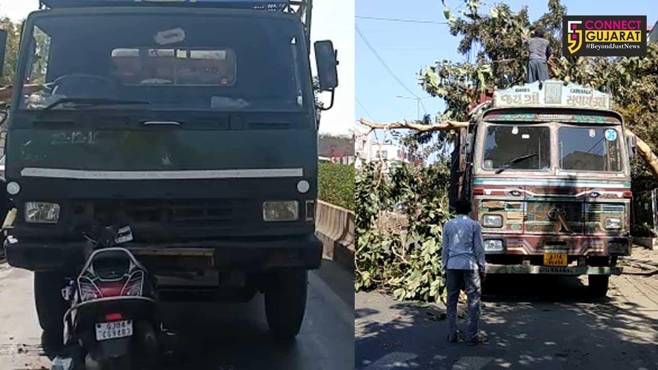 ભાવનગર : ઝાડ સાથે ટ્રક ધડાકાભેર ભટકાતાં ઝાડ મૂળમાંથી બહાર નિકળ્યું, અન્ય અકસ્માતનો પણ બન્યો બનાવ