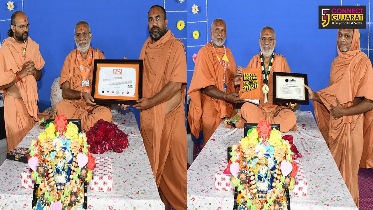 વડોદરા : કુંડળધામ શ્રી હરિચરિત્રામૃત સાગર કથાને 2332 દિવસ શબ્દશ: Live ટેલીકાસ્ટ ચલાવવાની બની પ્રથમ ઘટના