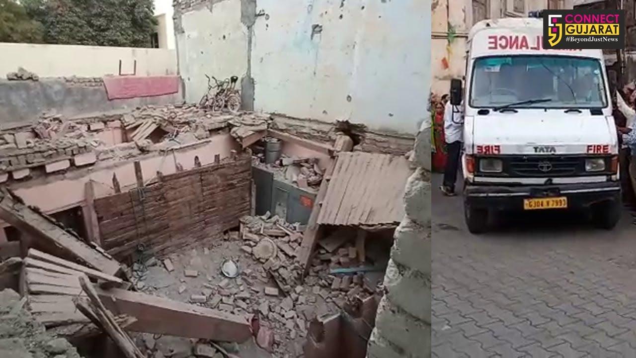 ભાવનગર : વડવા ખડીયા કુવા વિસ્તારમાં જૂનું મકાન થયું ધરાશાયી, એક મહિલાનું મોત