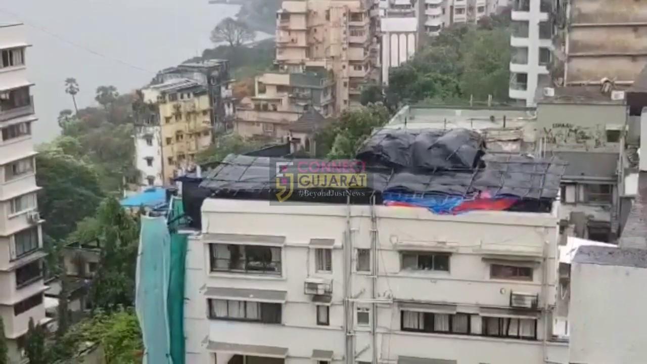 નિસર્ગ વાવાઝોડુ આખરે મહારાષ્ટ્રના તટીય વિસ્તારમાં ટકરાયું, મુંબઇમાં પણ જોવા મળી અસર