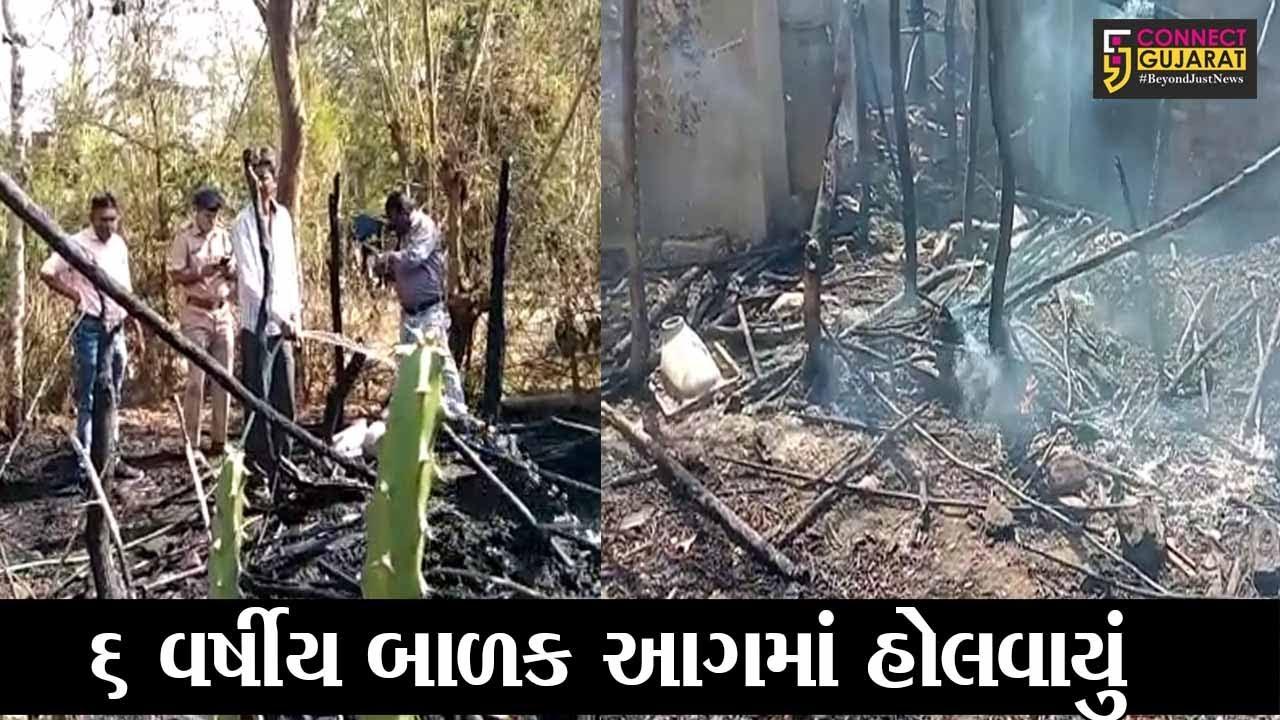 વડોદરા : તરસવા ગામે મકાનમાં લાગી અચાનક આગ, 6 વર્ષીય બાળકનું મોત